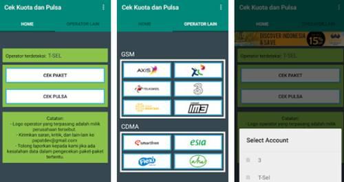Aplikasi Cek Kuota dan Pulsa Android Semua Operator