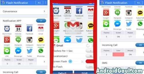 Aplikasi Lampu LED Depan Android Warna Warni Apk Flash Notification 2
