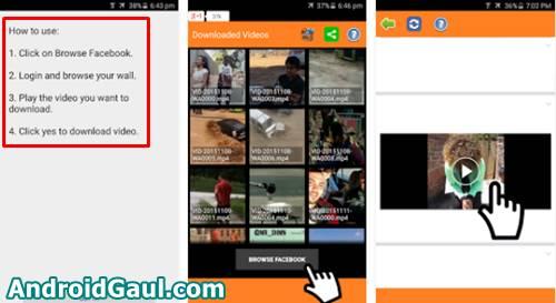 Cara Download Video Dari Facebook Android dengan Apk Video Downloader for FB