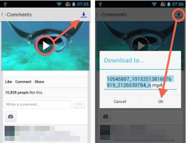 Cara download video di facebook android dengan aplikasi EZ Video Download for Facebook