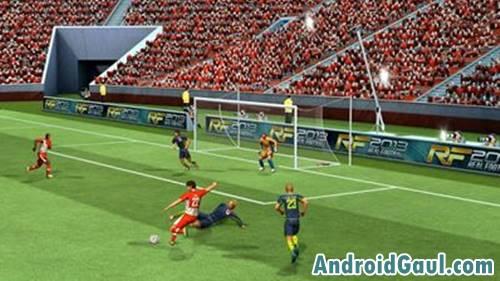 Dame sepak bola terbaik android dengan ukuran kecil Apk Real Football 2013