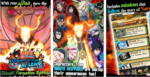 Download Ultimate Ninja Blazing Apk Game Ninja Naruto Android Online Multi Player